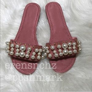 Shoes - Emmbellished slide in PINK! Sandal 8
